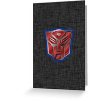 Autobot Symbol - Brushed Metal 2 Greeting Card