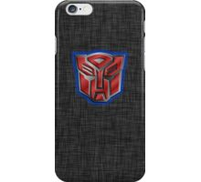 Autobot Symbol - Brushed Metal 2 iPhone Case/Skin