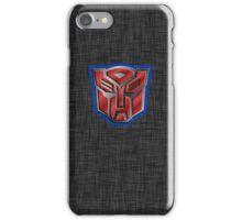 Autobot Symbol - Brushed Metal 2 iPhone Case/Skin