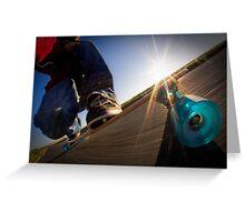 Longboarding Greeting Card