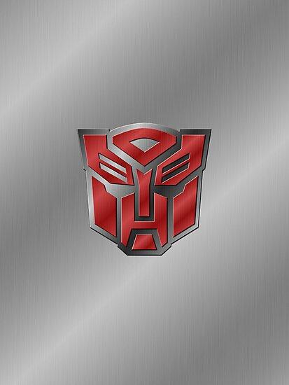 Autobot Symbol - Brushed Metal 3.0 by Jeffery Borchert