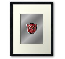 Autobot Symbol - Brushed Metal 3.2 Framed Print