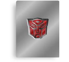 Autobot Symbol - Brushed Metal 3.2 Canvas Print