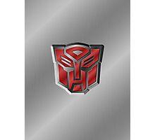 Autobot Symbol - Brushed Metal 3.2 Photographic Print