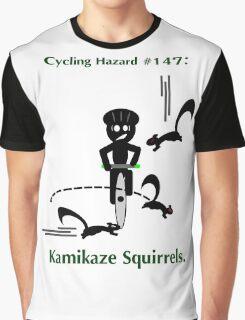 Cycling Hazards - Kamikaze Squirrels Graphic T-Shirt