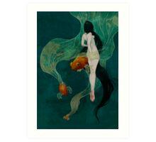 Swimming in Memories Art Print