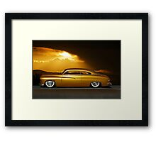 1950 Mercury Custom 24k Gold Framed Print