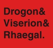 Drogon & Viserion & Rhaegal. by Gattaca