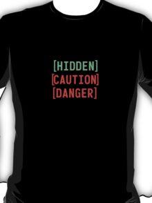 Fallout 3 Hidden/Caution/Danger Collage Design T-Shirt