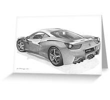 Ferrari 458 Italia Greeting Card