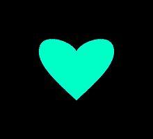 Mint Candy Heart by Mary Nesrala