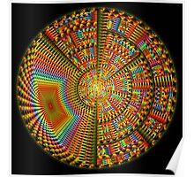 The Happiness Mandala, fractal artwork Poster
