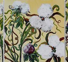 Cotton Triptych by EloiseArt