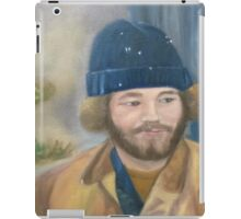 Man in blue hat iPad Case/Skin