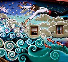 Mermaid Mural by Rose Johnson by Gina Dazzo