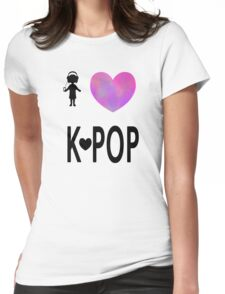 I love K-pop Womens Fitted T-Shirt