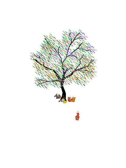 Foxes and Rainbow Tree by Weber Consulting