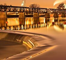 Liquid Gold - The 21st Street Bridge  by Gregory Ballos | gregoryballosphoto.com