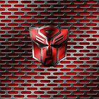 Autobot Symbol - Damaged Metal 4 by Jeffery Borchert