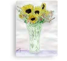 Sunflowers From Sue Canvas Print