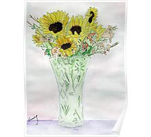 Sunflowers From Sue Poster
