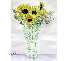 Sunflowers From Sue Photographic Print