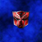Autobot Symbol - Damaged Metal 5 by Jeffery Borchert