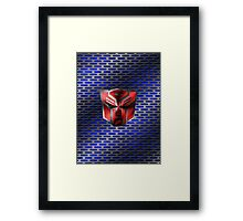 Autobot Symbol - Damaged Metal 6 Framed Print