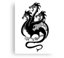 Targaryen Sigil - 3 Headed Dragon Canvas Print