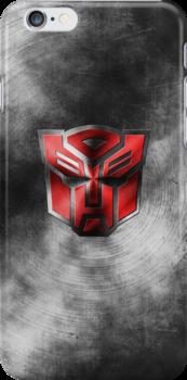 Autobot Symbol - Damaged Metal 1 by Jeffery Borchert