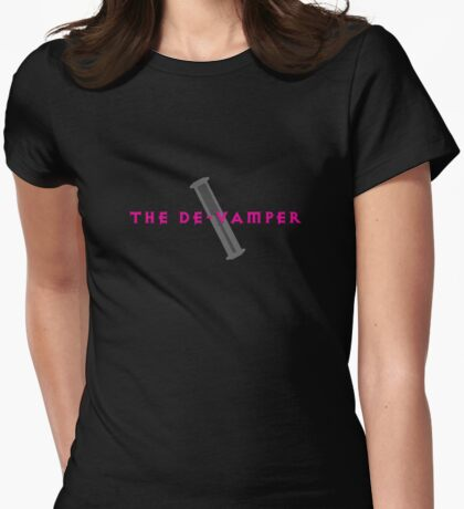 The De-Vamper (Clothing/pink/gray design) Womens Fitted T-Shirt