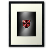 Autobot Symbol - Brushed Metal 4 Framed Print