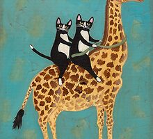 Cats on a Rocking Giraffe by Ryan Conners