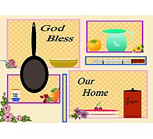 KITCHEN BLESSING Photographic Print