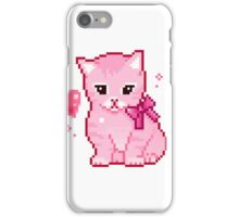 Pink Cat Pixel Design iPhone Case/Skin
