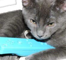 Cat and Wii Sticker