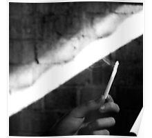 burning cigarette Poster
