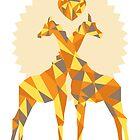 Giraffe Love by forevermelody