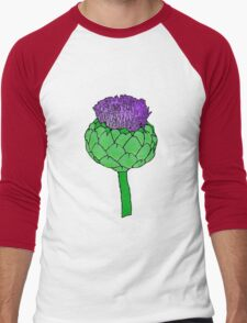 Artichoke Flower Men's Baseball ¾ T-Shirt