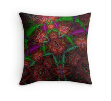 Fractalicious Fruit Throw Pillow
