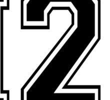 H2O [Varsity Font] Sticker