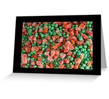Frozen Vegetables - Peas And Carrots Greeting Card