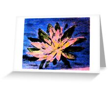 Lilly in the pond, watercolor Greeting Card