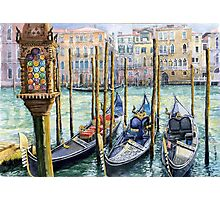 Italy Venice Lamp Photographic Print