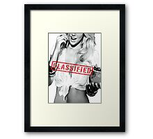 Classified - Cherry Framed Print