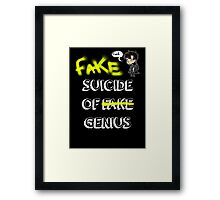 Fake suicide of genius. Framed Print