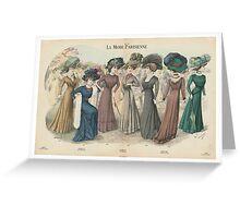 Paris Fashion Plate 107 Greeting Card