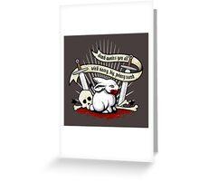 The Rabbit of Caerbannog Greeting Card