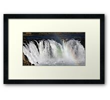 Waterfall Rainbow Framed Print