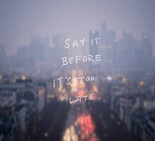 say it by shoshgoodman